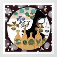 Art Print featuring Pick his chance by Soloka