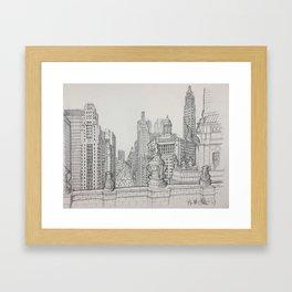 Chicago - South Michigan Avenue Framed Art Print