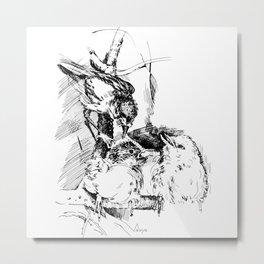 A Birds Family Metal Print