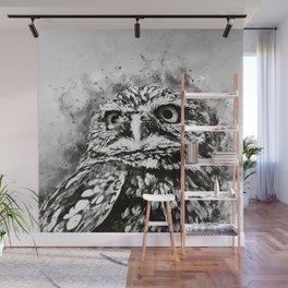 owl portrait 5 wsbw Wall Mural