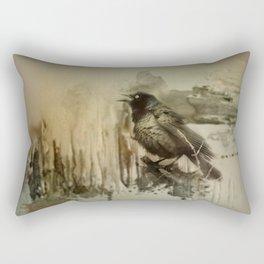 Call Of The Grackle Rectangular Pillow