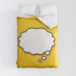 Think Bubble Comic Book Funny Cool Pop Art Comforters