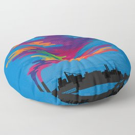 Hidden in the Smog (day) Floor Pillow