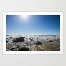 Sun, Water, Rocks, and Sand Art Print