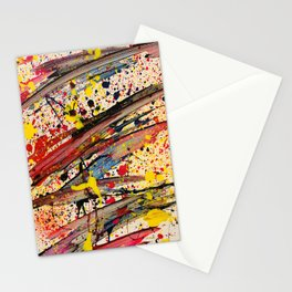 Abstract Spatter Stationery Cards