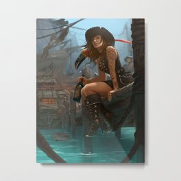 Pirate Haven Tortuga Metal Print