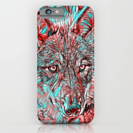 ColorMix Wolf iPhone Case