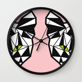 Crystal Cat Wall Clock