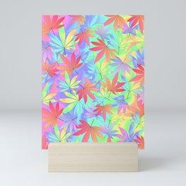 Tripping Weed Mini Art Print