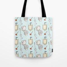 Bathroom Pattern Tote Bag