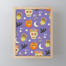 Halloween Pattern 2020 Framed Mini Art Print