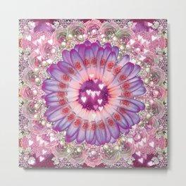 pink love daisy Metal Print
