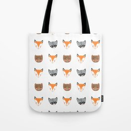 Woodland Creatures Pattern Tote Bag