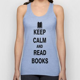 Keep Calm and Read Books Unisex Tank Top