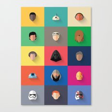 Force Awakens Flat Design Set Canvas Print