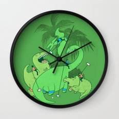 Polo with Dinosaurs Wall Clock