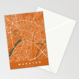 MUNSTER City Map - Germany | Orange | More Colors, Review My Collections Stationery Cards