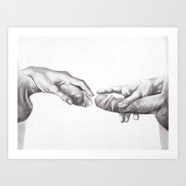 The Creation of Adam's Dick Art Print