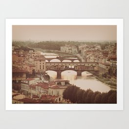Old Bridge Ponte Vecchio Art Print