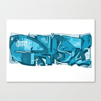 crystal Canvas Prints featuring CRYSTAL by clogtwo