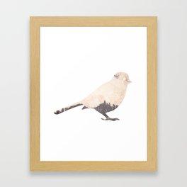 pink sky bird with trees Framed Art Print