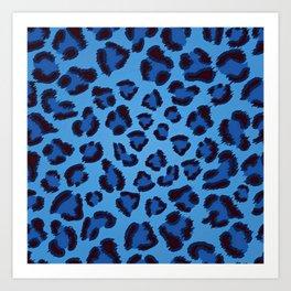 BLUE--PANTHER Art Print