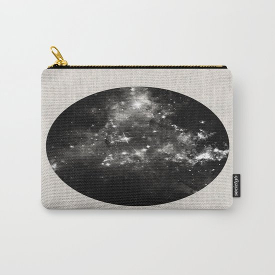 God's Window - Black And White Space Painting Carry-All Pouch