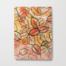 Grounded Leaves Metal Print