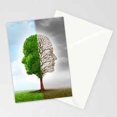 Two Faces one Land Stationery Cards