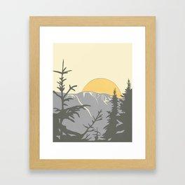 Ski Mountain Sun and Trees - Breckenridge  Framed Art Print