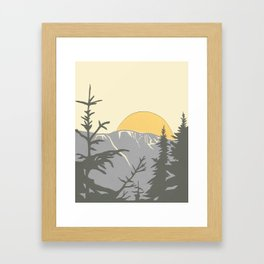 Ski Mountain Sun and Trees - Breckenridge  Framed Art Print