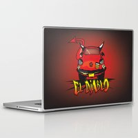 diablo Laptop & iPad Skins featuring El Diablo/hell car by mangulica illustrations