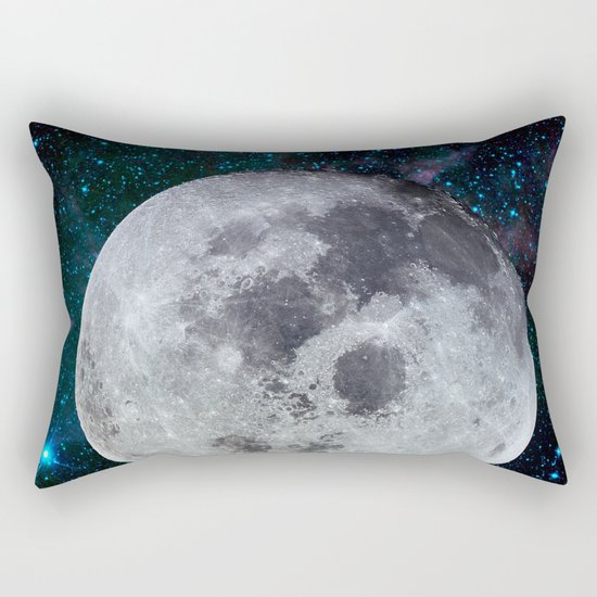 Moon and the stars Rectangular Pillow