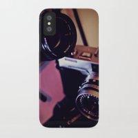 cameras iPhone & iPod Cases featuring cameras by Raquel Cuellar