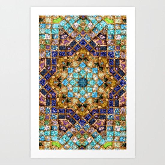 Blue Godess Mandala Art Print