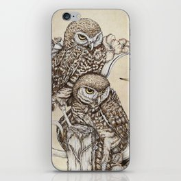 Duality - Two Burrowing Owls iPhone Skin