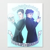 enerjax Canvas Prints featuring Benedict Cumberbatch as Hamlet x Sherlock by enerjax