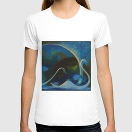Swans (Night) Central Park, Gapstow Bridge New York by Joseph Stella T-shirt