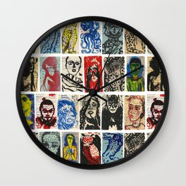 Library Card Art Wall Clock