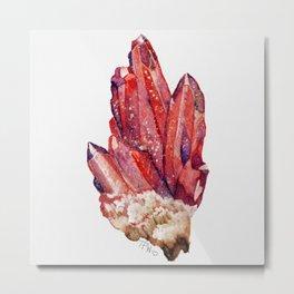 bloodstone crystal cluster Metal Print