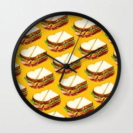 Ham Sandwich Pattern Wall Clock