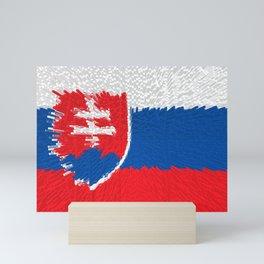 Extruded flag of Slovakia Mini Art Print