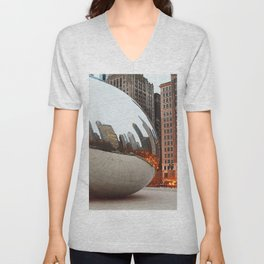 Chicago Bean - Big City Lights Unisex V-Neck