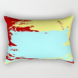 Hisacho - Abstract Colorful Batik Camouflage Tie-Dye Style Pattern Rectangular Pillow