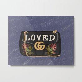 "GG handbag ""LOVED"" inspired Metal Print"