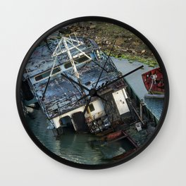 Submerged in Color Wall Clock