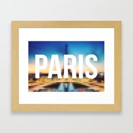Paris - Cityscape Framed Art Print