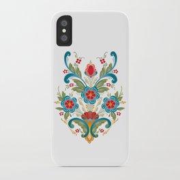 Nordic Rosemaling iPhone Case