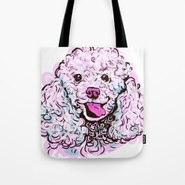 The happy Poodle Love of My Life Tote Bag