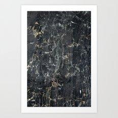 Old black marBLe Art Print